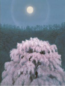 《花明り》 1968年、東山魁夷、 株式会社大和証券グループ本社蔵