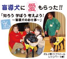 盲導犬に愛もらった!! 「知ろう 学ぼう 考えよう!〜盲導犬のお仕事〜」 width=